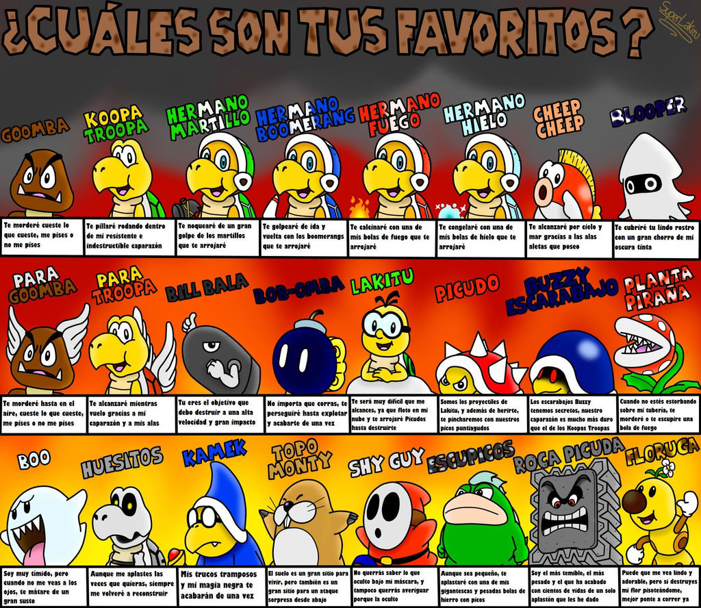 Escoge tus enemigos favoritos by superlakitu on deviantart