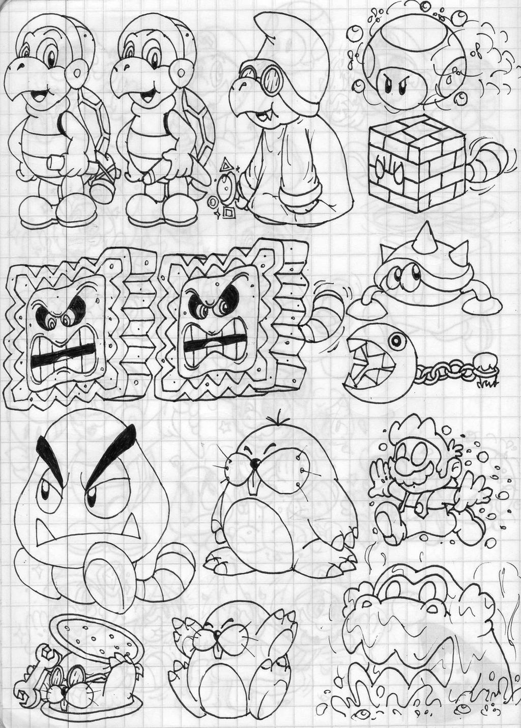 Coloriage Super Mario 3d Land Imprimer Et Obtenir Une Coloriage