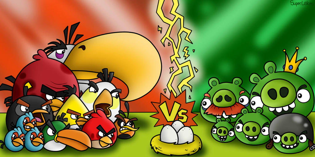 Angry Birds vs. Bad Piggies by SuperLakitu