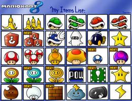 Mario Kart 8: My Items List by BoxBird