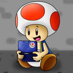 RQ for ToadFan15: That cute Toad playing 3DS!