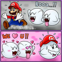 Boos hate and love Mario!! :D by BoxBird