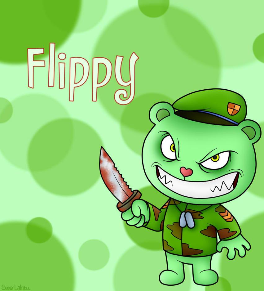 Happy Tree Friends: Flippy by SuperLakitu on DeviantArt