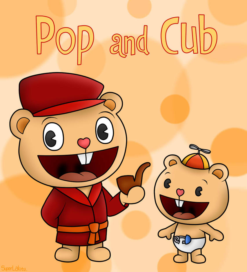 happy tree friends pop and cub by superlakitu on deviantart. Black Bedroom Furniture Sets. Home Design Ideas