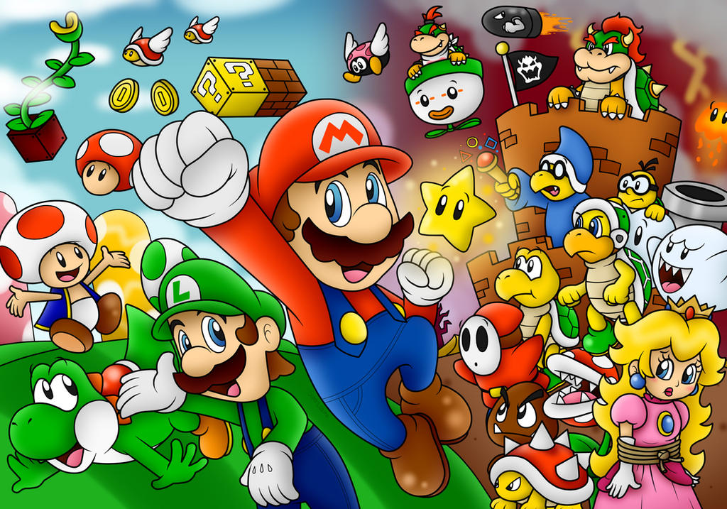 Group Of Super Mario Wallpaper 0