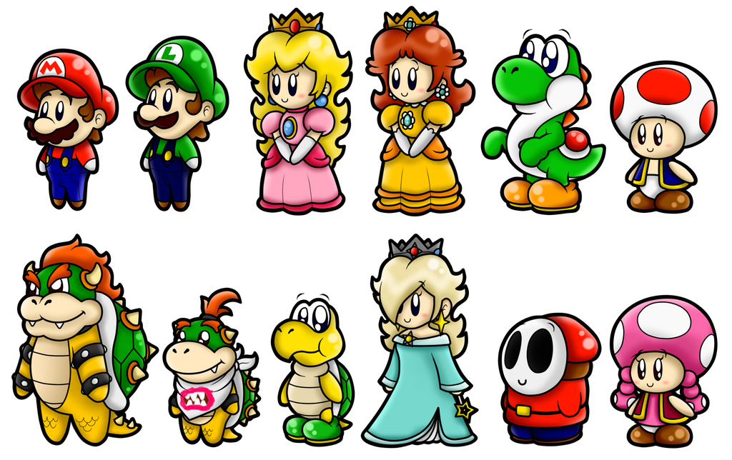 super mario cute characters 1 by boxbird on deviantart