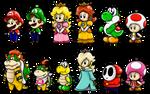 Super Mario Cute Characters 1