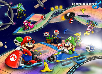 Mario Kart 8 Wallpaper by BoxBird