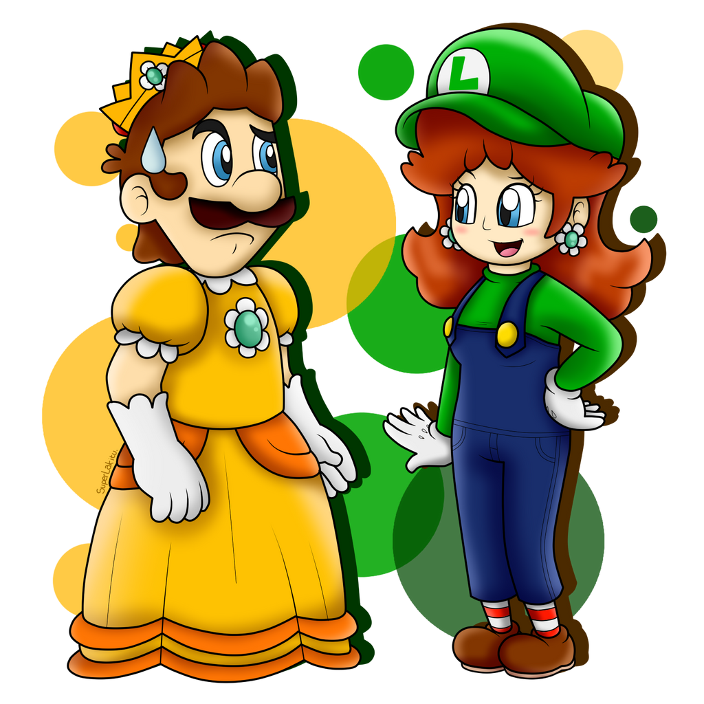 AT Princess Luigi and Plumber Daisy by SuperLakitu on