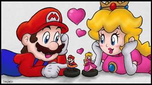 Mario x Peach: Amiibo Time!! :3