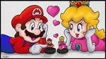 Mario x Peach: Amiibo Time!! :3 by BoxBird