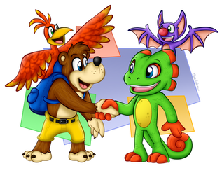 Nice to meet you, Yooka and Laylee! by BoxBird