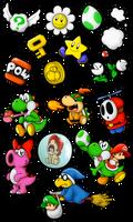 Commish: Yoshi's Island Sticker Madness!
