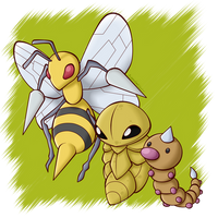 Pokedex: #013 #014 #015 by BoxBird
