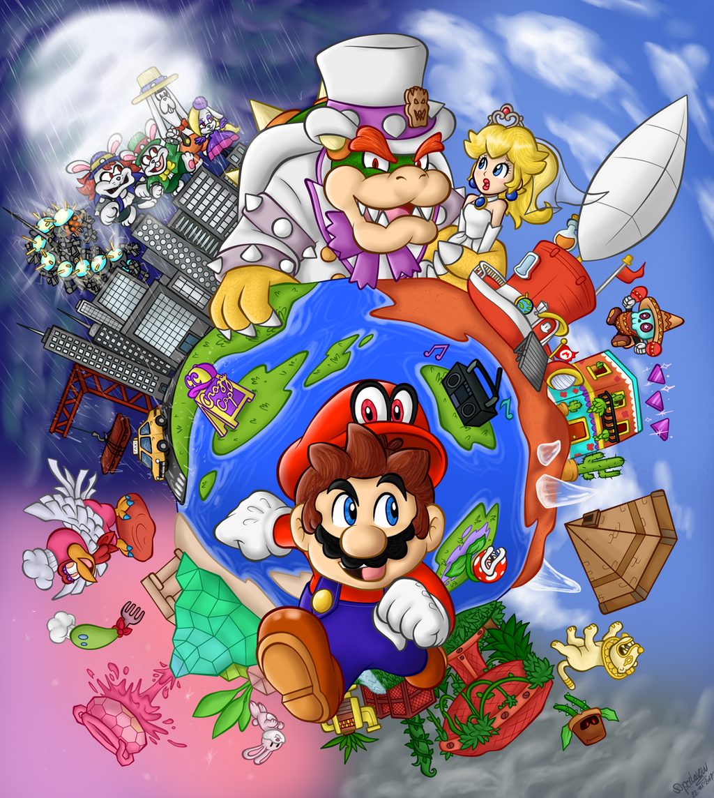 Odyssey by superlakitu on deviantart for Super mario odyssey paintings