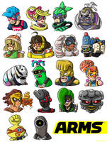 Some ARMS doodles things by BoxBird
