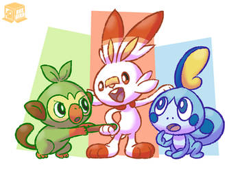 The buddies of the Galar Region! by BoxBird