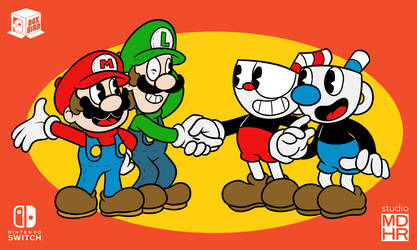 Cup and Plumber Bros by BoxBird