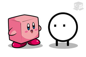 Kirby and Qbby? by BoxBird