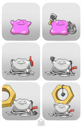 Is Ditto a Meltan? by BoxBird