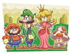 Super Mario Characters in a different style (?)
