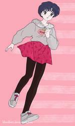 Akane Tendo in Gray Hoodie