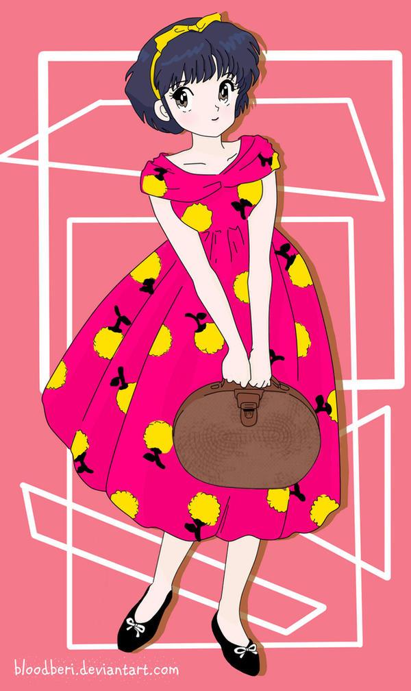 Akane Tendo in Fuschia Pink Casual Dress