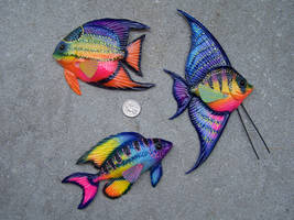 colorful fish trio by JP-3D
