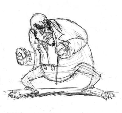 El Horripilante Sr. Aguilera - boceto by Carloco