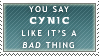 Cynic by Allegra-the-Neko