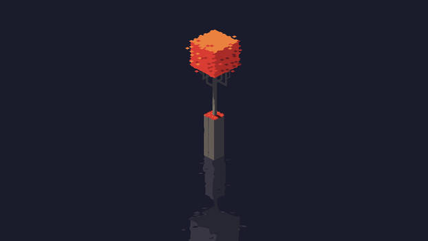 Single Isometric Red Tree