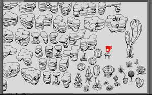 Perlinoid Desert Rock Platforms by danielgoffin