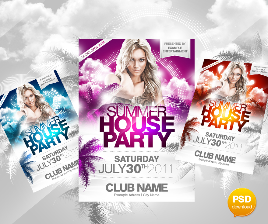 Summer House Flyer Psd By Party Flyer On Deviantart