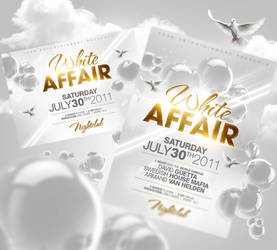 White Affair Flyer PSD by Party-Flyer