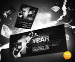 Anniversary Party Flyer PSD