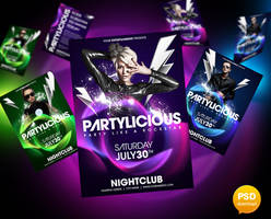 Partylicious Flyer Template by Party-Flyer