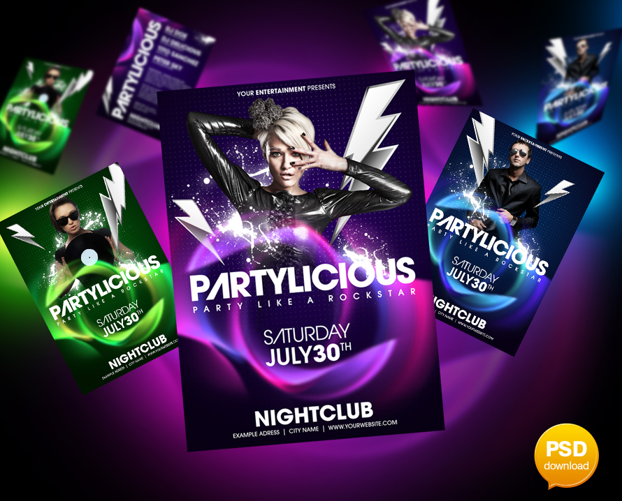 Partylicious flyer template by party flyer on deviantart partylicious flyer template by party flyer saigontimesfo
