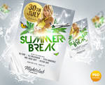 Summer Break Flyer PSD