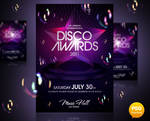 Disco Awards Party Flyer