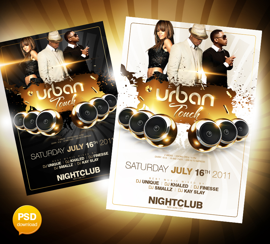 Urban Touch Party Flyer PSD by Party-Flyer on DeviantArt