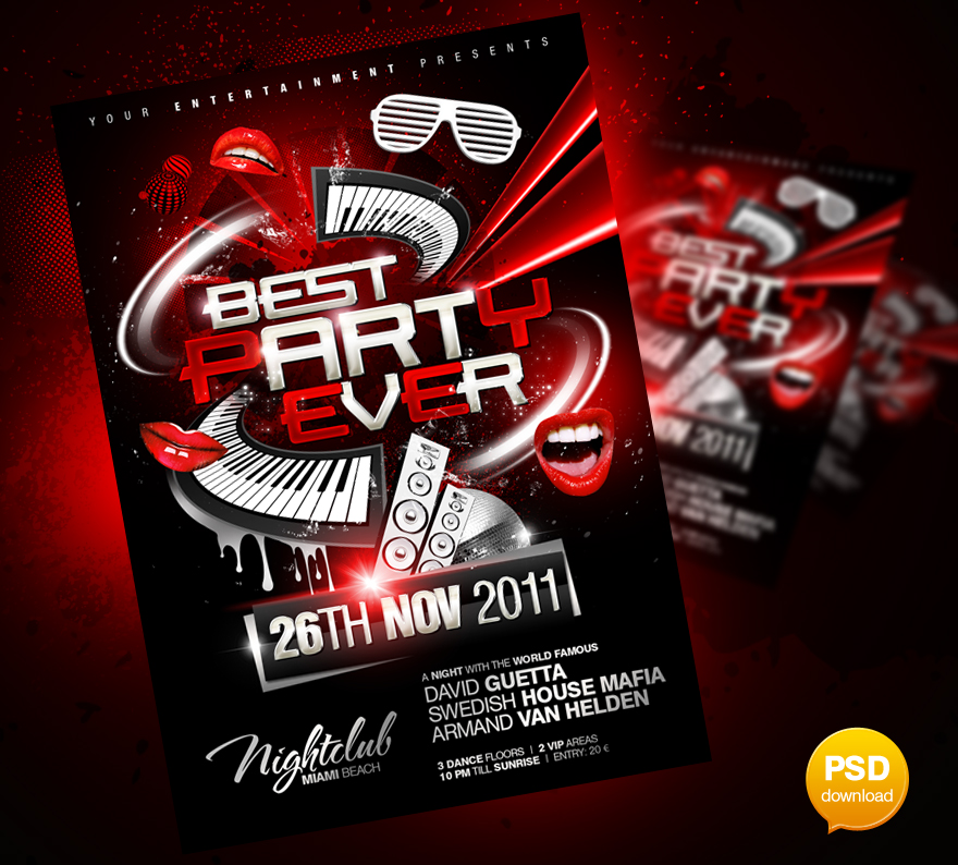 best party ever flyer template by party flyer