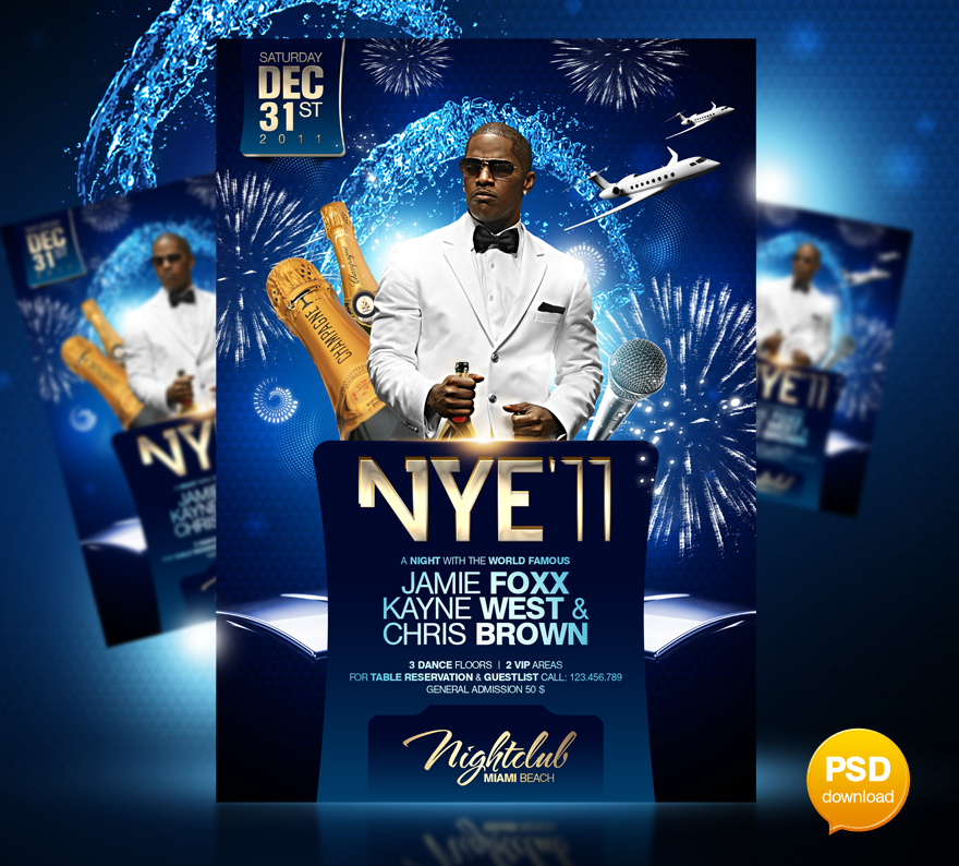 New Years Eve Party Flyer Template By Party Flyer On Deviantart