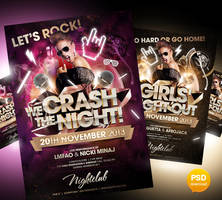 We Crash The Night And Girls Night Out Partyflyer