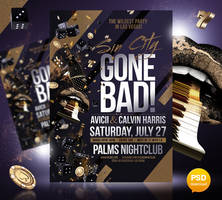 Sin City Gone Bad Party Flyer Template