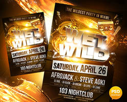 Wet and Wild Party Flyer Template