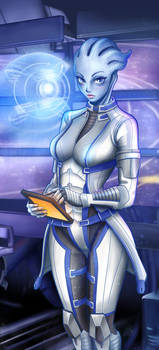 Liara at work by Scrappy195