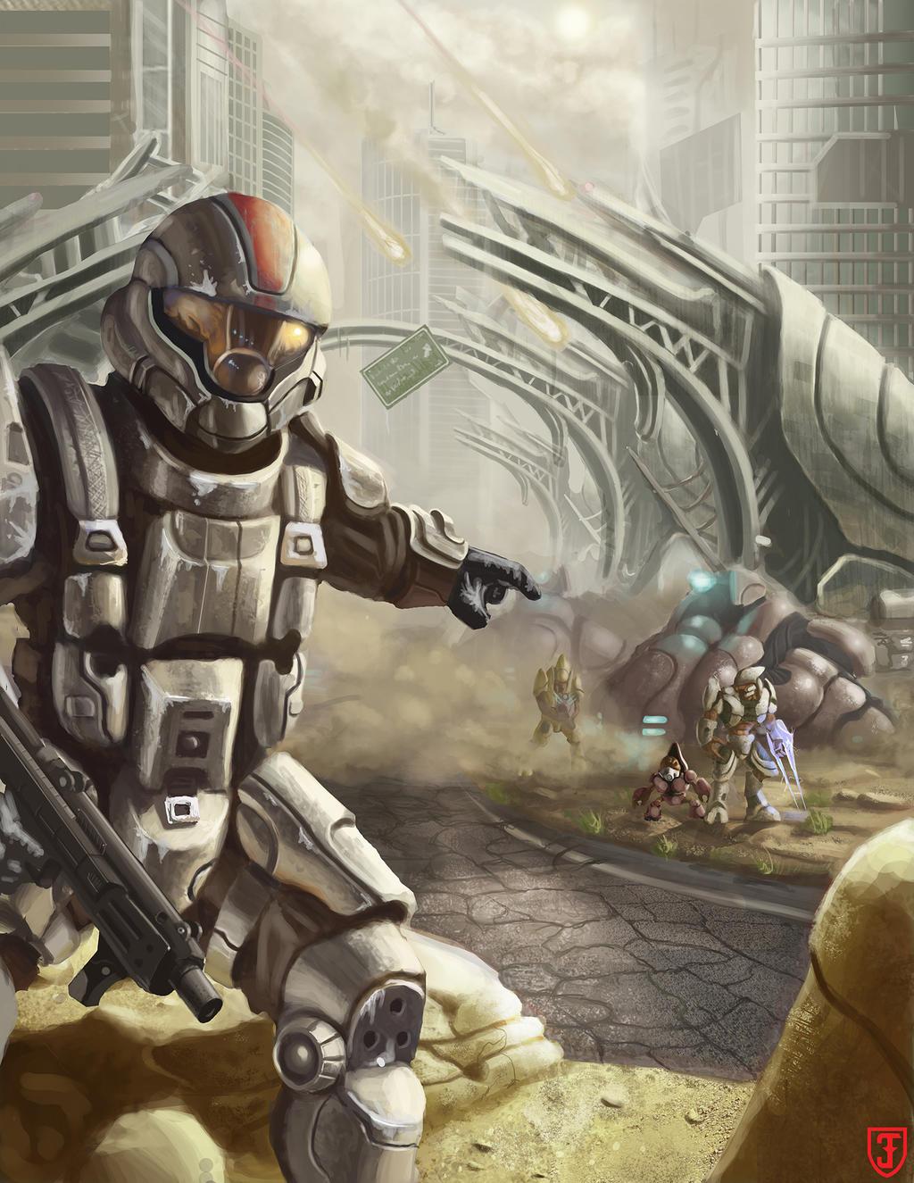 Spartan ODST fanart by TheToughPup