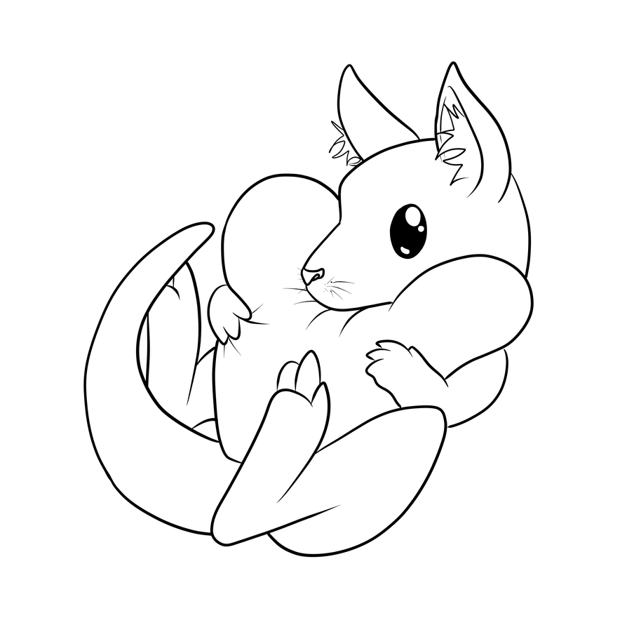 Drawing Lines With Vb Net : Cute kangaroo want a hug collaboration by nolhyaa on