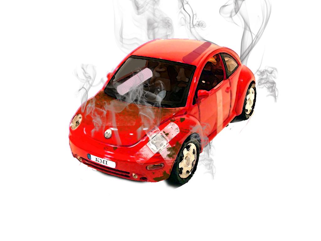Crashed Car by Fenrir06