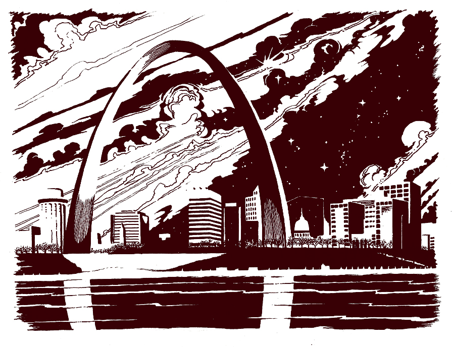 St. Louis Arch by mallaard